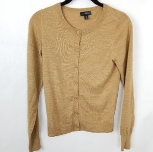 The Limited Tan Button Front Classic Cardigan  XS